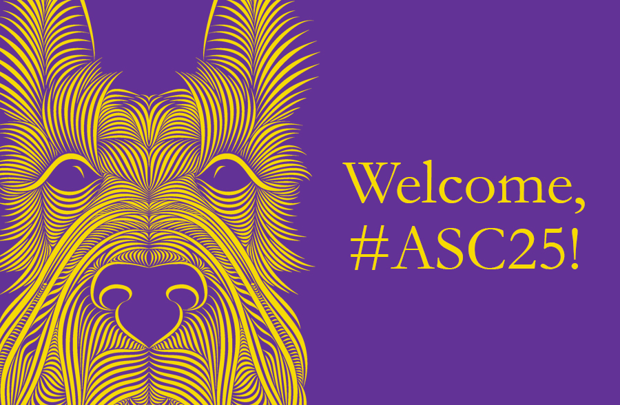 ASC25 graphic with Scottie dog face