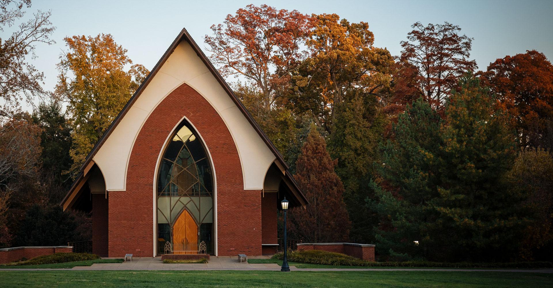the exterior of Julia Thompson Smith chapel
