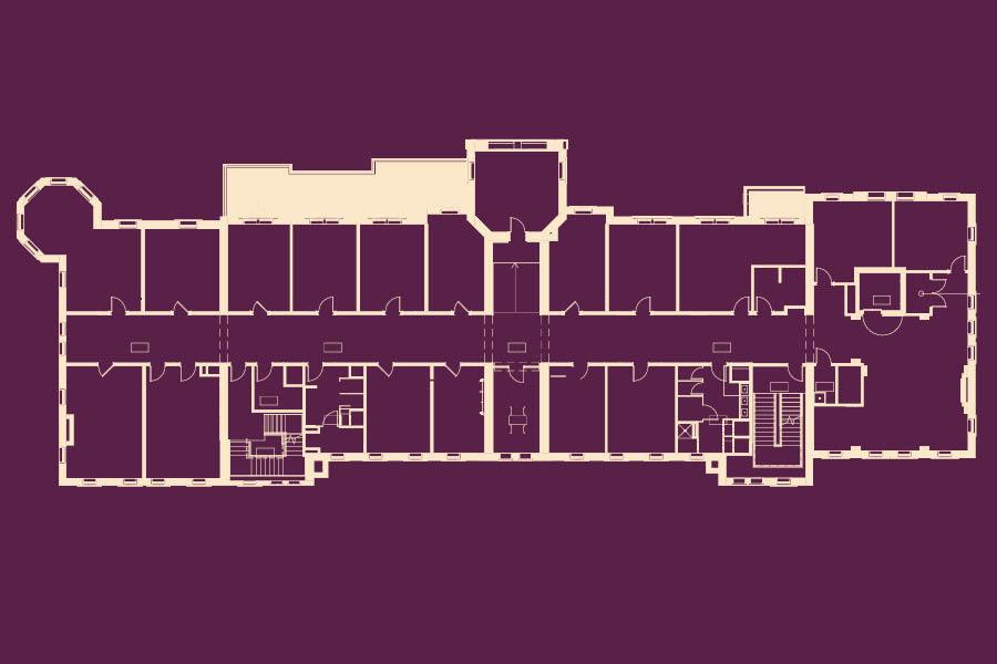 Old Main blueprints