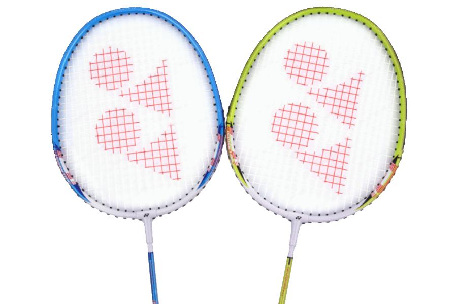 two badminton rackets