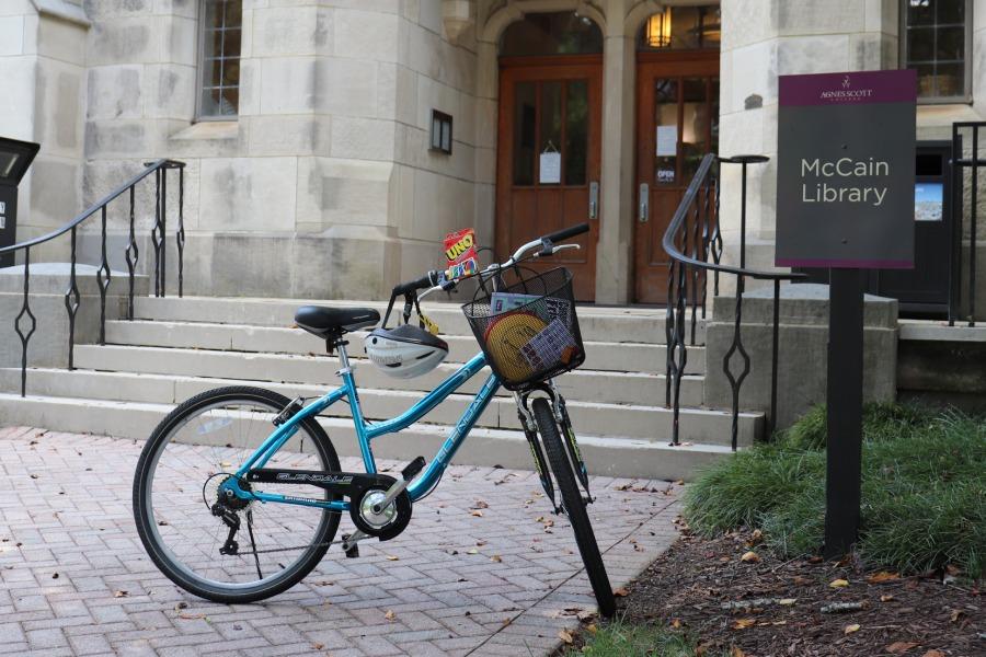 Bike outside McCain Library