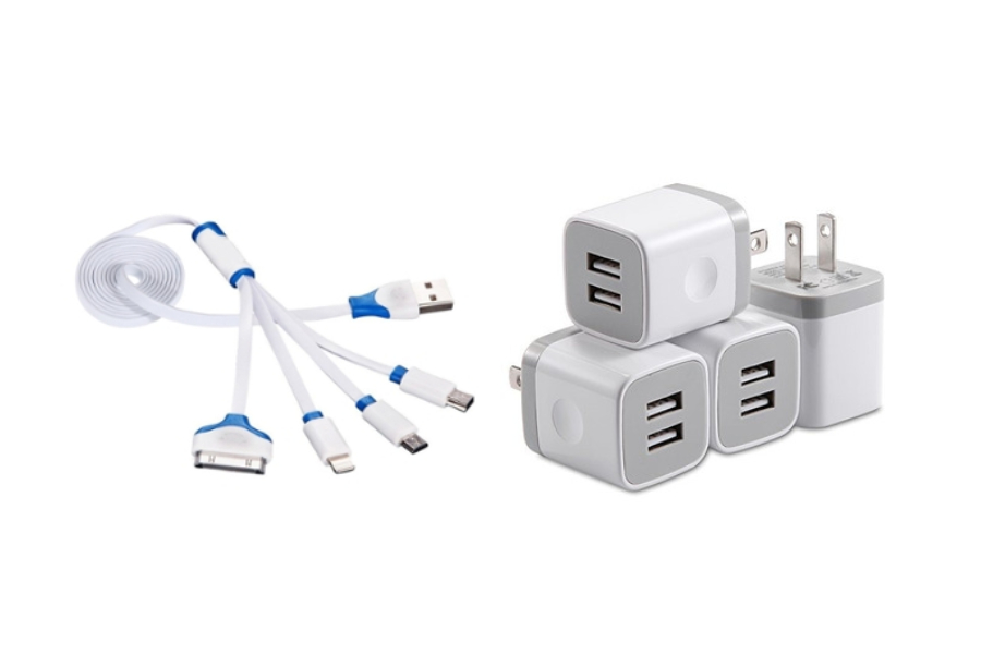 chargers and wall plugs