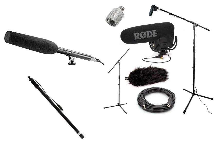 microphone, Rode mic kit and boom pole kit