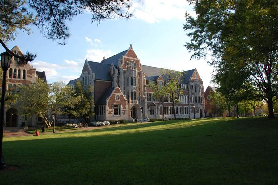 A view of Buttrick Hall from across the quad.