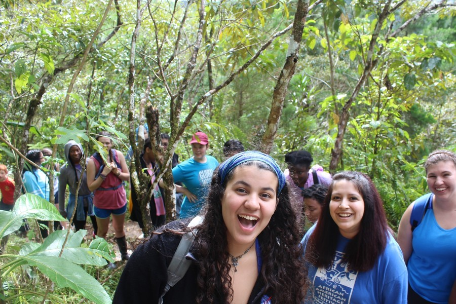 Group of students in jungle
